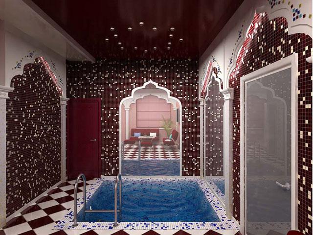 Дизайн интерьера сауна баня хамам